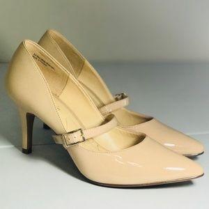 NEW! KELLY & KATIE Cream Nude Pump Mary Jane Heels